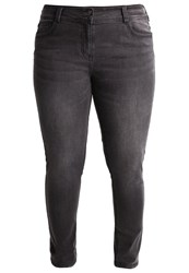 Anna Field Curvy Straight Leg Jeans Grey Denim