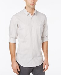 Inc International Concepts Men's Chambray Dual Pocket Shirt Only At Macy's White Pure