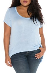 Slink Jeans Plus Size Women's High Low Scoop Neck Tee