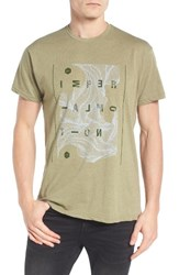Imperial Motion Men's Spark Graphic T Shirt Light Olive