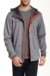 Free Country Marled Fleece Jacket Gray