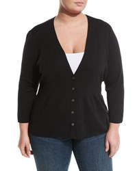 Nic Zoe Back Of The Chair Button Front Cardigan Onyx