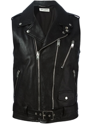 Saint Laurent Sleeveless Biker Jacket