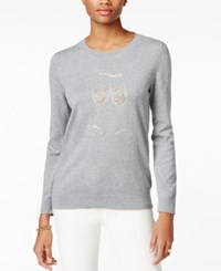 Tommy Hilfiger Whimsy Long Sleeve Crewneck Medium Grey Heather