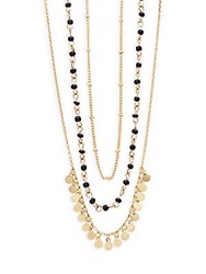 Noir Three Layer Necklace Antique Gold