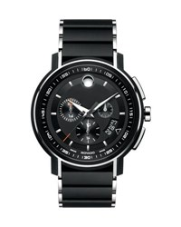 Movado 44Mm Strato Chronograph Watch Black