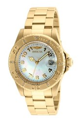 Invicta Women's Pro Diver Mother Of Pearl Watch Metallic