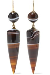 Fred Leighton 1860S 15 Karat Gold Agate Earrings