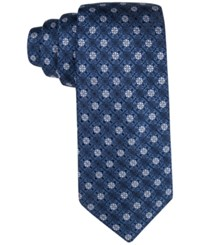 Tasso Elba Men's Core Floral Medallion Classic Tie Only At Macy's Blue
