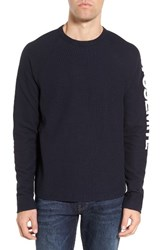 James Perse Men's Raglan Waffle Jersey Pullover