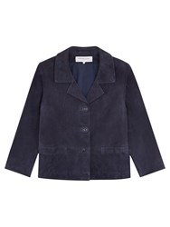 Gerard Darel Alana Leather Jacket Navy Blue