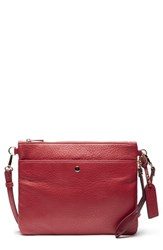 Sole Society Tasia Convertible Faux Leather Clutch Red Salsa Red