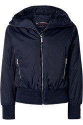 Fusalp Melly Velvet Trimmed Hooded Ski Jacket Midnight Blue