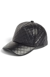 Women's Bp. Quilted Faux Leather Ball Cap