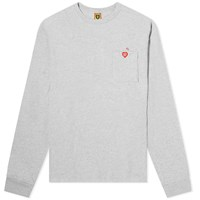 Human Made Long Sleeve Pocket Tee Grey