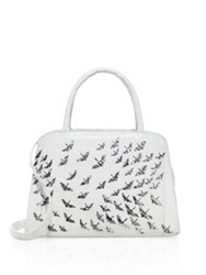 Nancy Gonzalez Crane Crocodile And Python Tote White