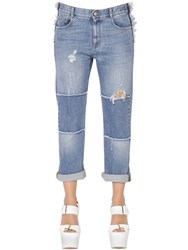 Stella Mccartney Patchwork Stretch Cotton Denim Jeans