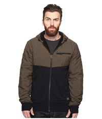 O'neill Quadra Quilted Hoodie Olive Men's Sweatshirt