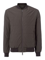 Label Lab Men's Dessau Padded Bomber Jacket Charcoal