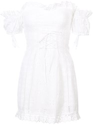 For Love And Lemons Broderie Anglaise Dress White