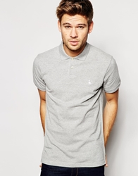 Jack Wills Polo With Pheasant Logo Greymarl