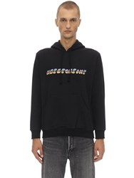 Nasaseasons Colorful Front Cotton Sweatshirt Hoodie Black