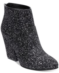 G By Guess Nite Sparkle Booties Women's Shoes Black Sparkle