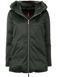 Rrd Feather Down Hooded Jacket Black