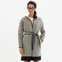 Madewell Leather Tipped Wrap Coat
