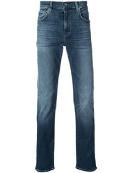 7 For All Mankind Adrien Slim Fit Jeans Cotton Polyester Spandex Elastane Blue