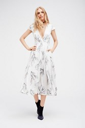 Free People Womens Printed Retro Midi Dress