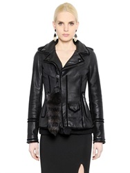 Givenchy Nappa Leather And Fur Leather Jacket