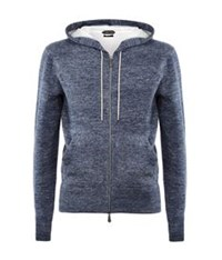 Tom Ford Double Faced Hoodie Blue
