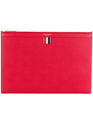 Thom Browne Zipped Document Holder Red