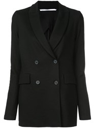 Rosetta Getty Double Breasted Fitted Blazer Black