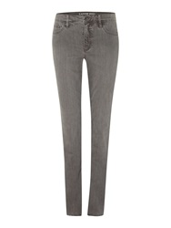 Lands' End Smoke Mid Rise Straight Leg Jeans Grey