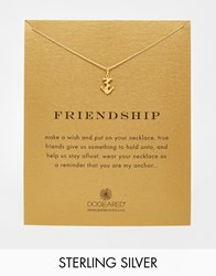 Dogeared Gold Plated Friendship Rope Anchor Reminder Necklace