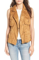 Thread And Supply Women's Faux Suede Vest Caramel