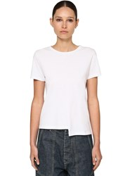 Loewe Asymmetric Cotton Jersey T Shirt White