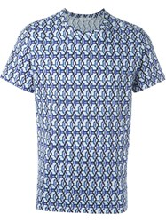 Carven Printed T Shirt Blue