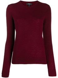 Theory Crewneck Sweater Red