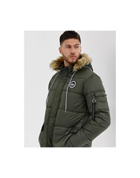 Hype Explorer Hooded Parka Jacket Green
