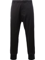 Neil Barrett Drop Crotch Sweatpants Men Cotton Polyamide Polyester Cupro 50 Black
