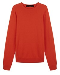Jaeger Men's Cashmere Crew Neck Sweater Red