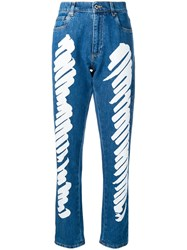 Moschino Brushstroke Jeans Blue