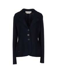 Manila Grace Denim Blazers Dark Blue