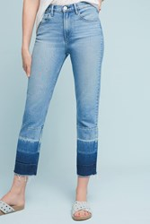 Anthropologie 3X1 Nyc Spectrum High Rise Straight Cropped Jeans Denim Light