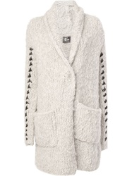 Lost And Found Open Front Knit Cardigan Grey