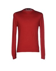 Zanieri Sweaters Brick Red