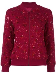 Ashish Sequined Bomber Jacket Red